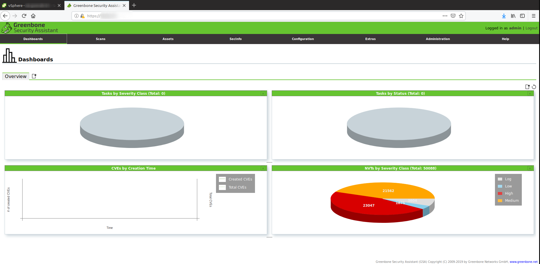 Greenbone Vulnerability Management 10 Docker Master/Slave